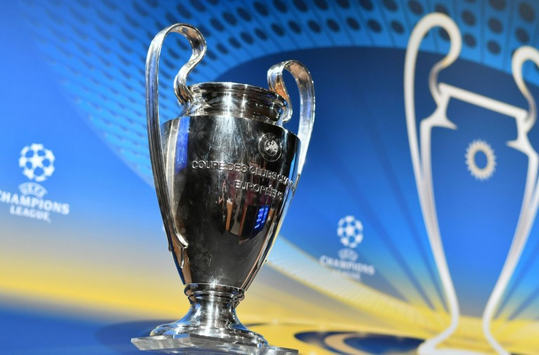 This photograph taken on April 13, 2018, shows the UEFA Champions League football cup ahead of the draw for the semi-finals round of the UEFA Champions League football tournament at the UEFA headquarters in Nyon.  / AFP PHOTO / Fabrice COFFRINI        (Photo credit FABRICE COFFRINI/AFP/Getty Images)